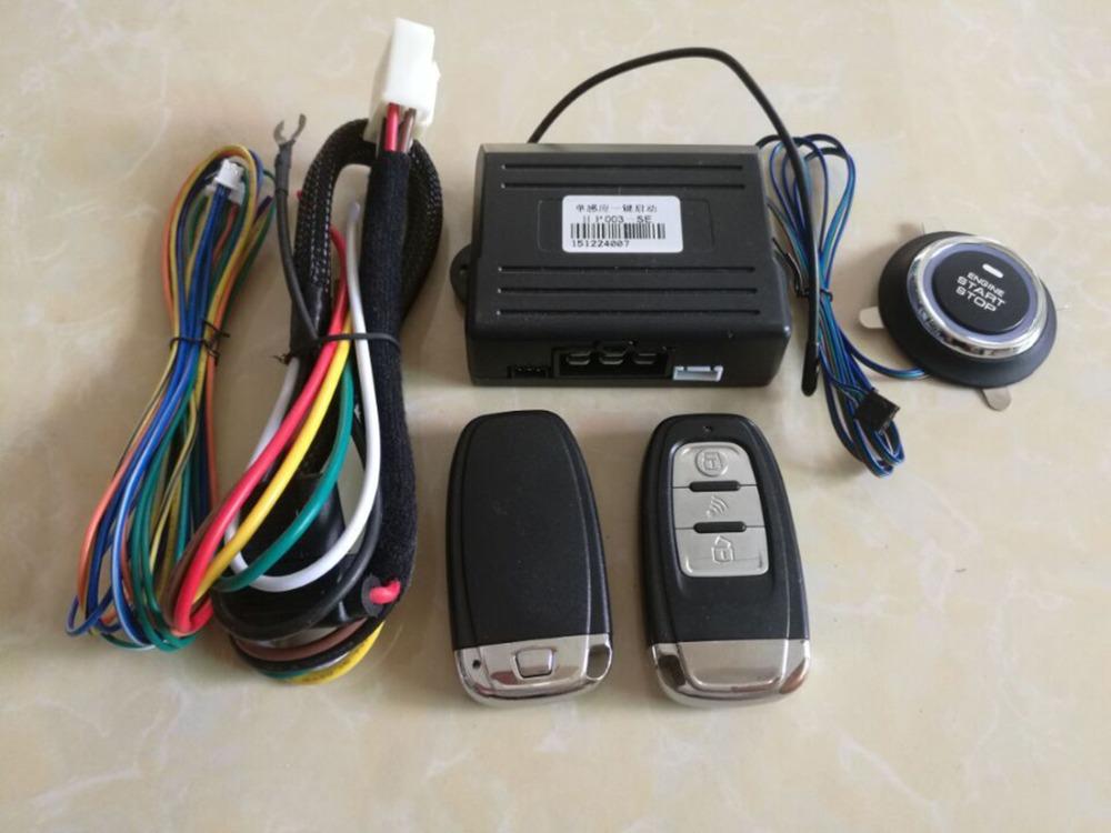 Hot PKE Car Alarm System Remote Keyless Entry Start Security Built lock Remote Start Function Keyless To Push Button Start Stop(China (Mainland))