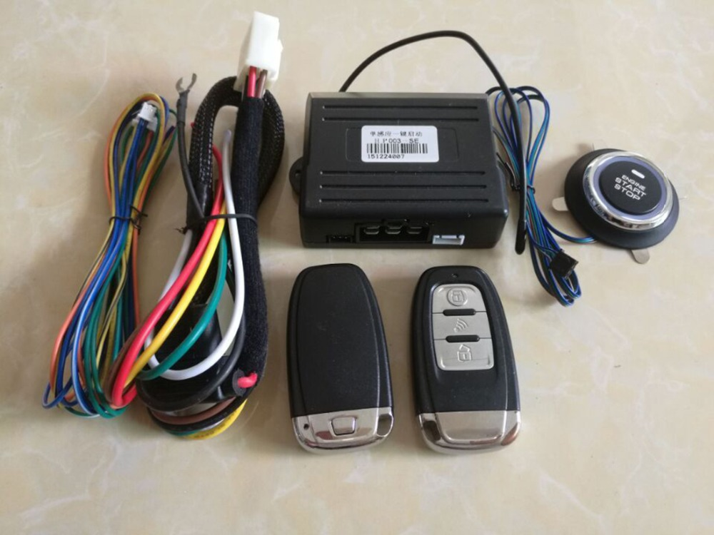 Universal PKE Car Alarm System Keyless Entry Start Security Built Lock Function Push Remote Central Lock Button Auto Start Stop(China (Mainland))
