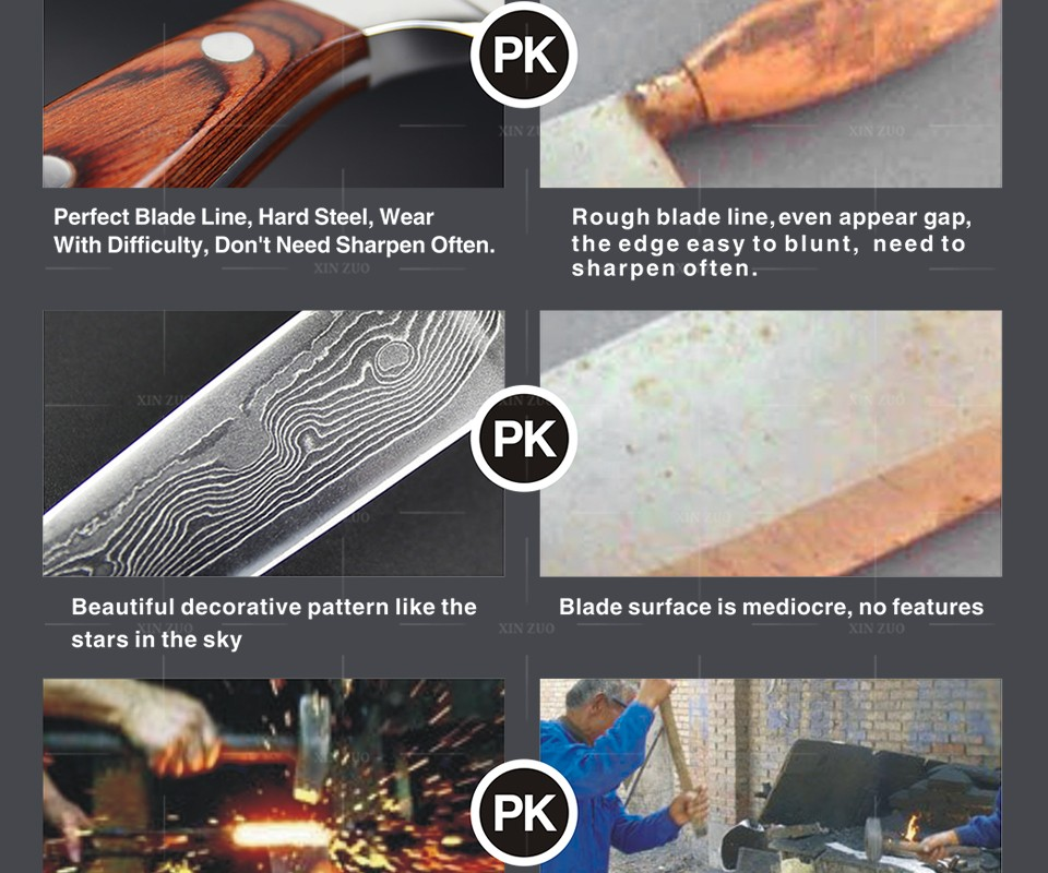 Buy 2016 new XINZUO 3.5 inch Damascus steel kitchen knives utility Fruit paring Damascus knife with color wood handle FREE SHIPPING cheap