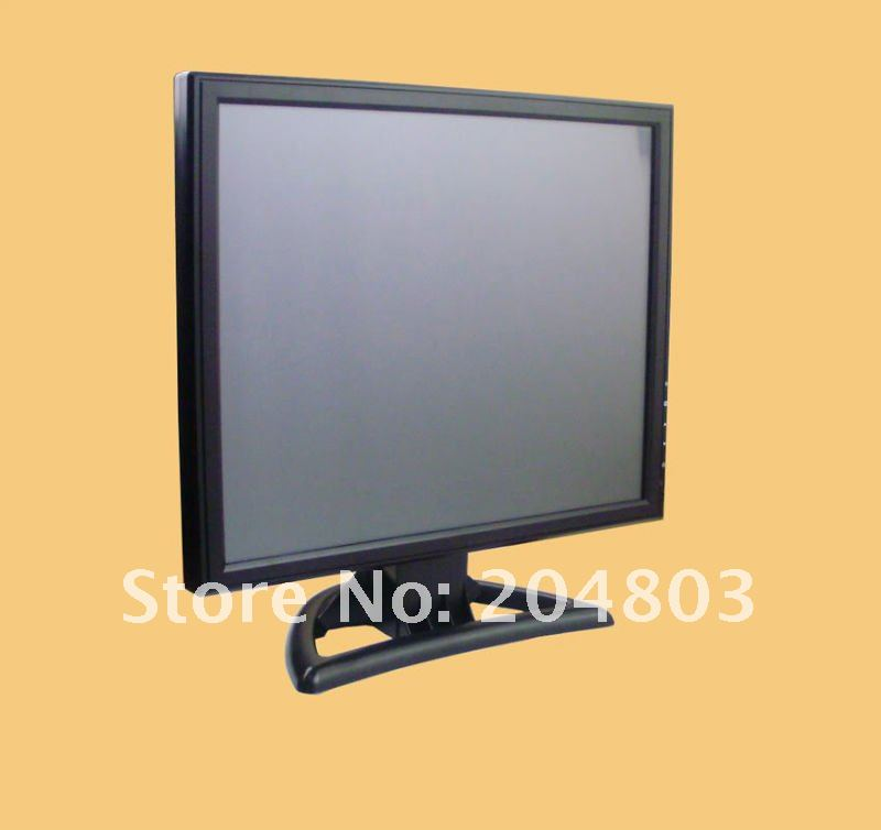 "17"" inch Stand Touch Screen LCD Monitor with VGA TFT A(Black colour) Free Shipping(China (Mainland))"