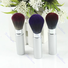 NEW hot! Retractable Natural Hair Face Powder Blusher Makeup Brushes Beauty Tool