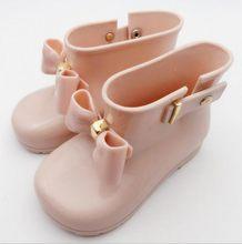 Sıcak Bebek Çocuk Bahar Sonbahar bebek kız yağmur çizmeleri Sıcak Güzellik Yay Yağmur Çizmeleri kauçuk ayakkabı Yürümeye Başlayan Çocuklar Jöle ayakkabı(China)