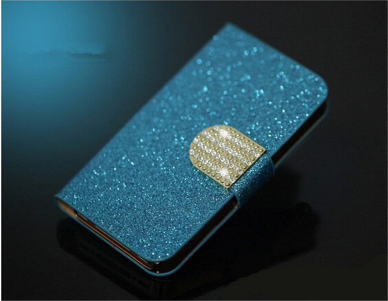 Luxury Bling Leather Phone Case Shining Diamond Button Magnetic Flip Wallet Phone case for Moto X XT1058 XT1060(China (Mainland))