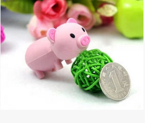 Hot selling cartoon pet pig USB 2.0 flash memory stick pen drive U Disk Festival Thumb/Car 2GB-32GBreal capacity S116(China (Mainland))