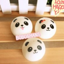 Cute panda baby squishy charm / mobile phone strap / Wholesale(China (Mainland))