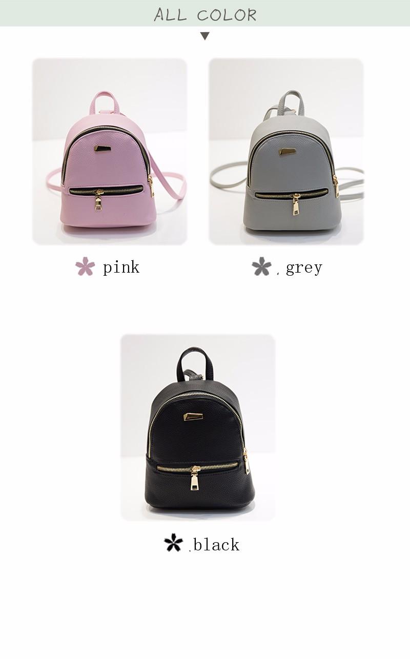 Small Fashion Rucksack Hotsale Women Shopping Purse Ladies Joker Bookbag Travel Bag Student school Backpacks Mini Women Backpack 10