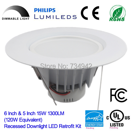 HK-MRD615 Dimmalbe 5 inch and 6 Inch 15W 1300LM (120W Equivalent) Recessed Downlight LED Retrofit Kit(China (Mainland))