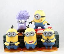 Despicable Me Action Figures Minions Figures Movies Anime Collection Models Superman Hot Toys 8cm 5 Pcs Kids Gifts