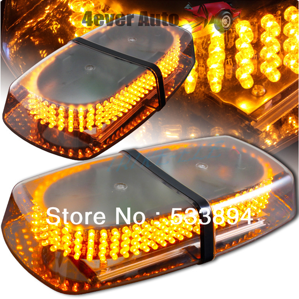 DHL Free Shipping 240 LED Car Roof Flash Strobe Magnets 8 Modes Emergency Warning Police Light Shell All Yellow Amber Light<br><br>Aliexpress