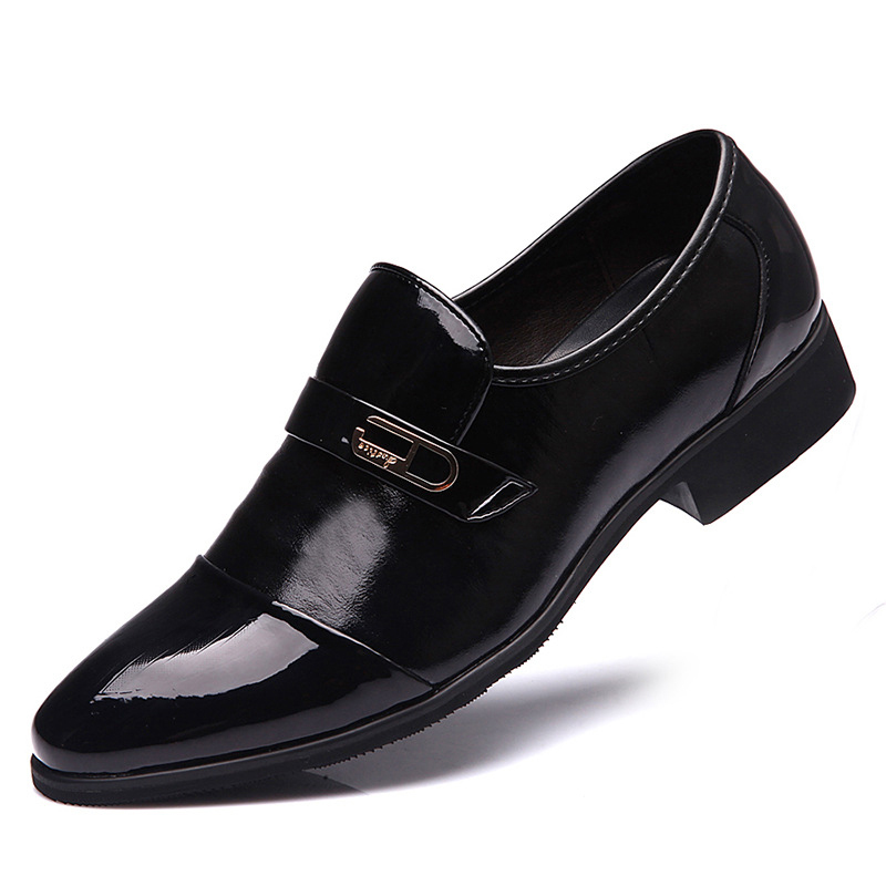 Men Patent Leather Shoes Male High end Lace-up Pointed Toe WaterProof Fashion Soft Summer Breathable Wedding Business Shoes Mens(China (Mainland))