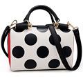 Women Leather Bag Designer Dot Ladies Messenger Shoulder Girls Crossbody Handbag Package Bolsos Mujer De Marca