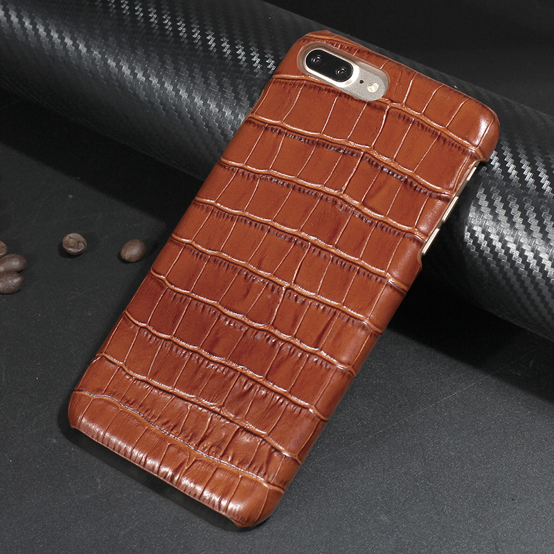 Luxury Real Premium Cow Leather Case For iPhone 7 6 6s Plus Cell Phone 3D Crocodile Shell Cover for iPhone 5 5s se Fundas(China (Mainland))