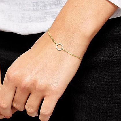 Fashion Women Jewelry Gold Silver Plated Metal Circle Simple Bracelets & Bangles - QingSuo store