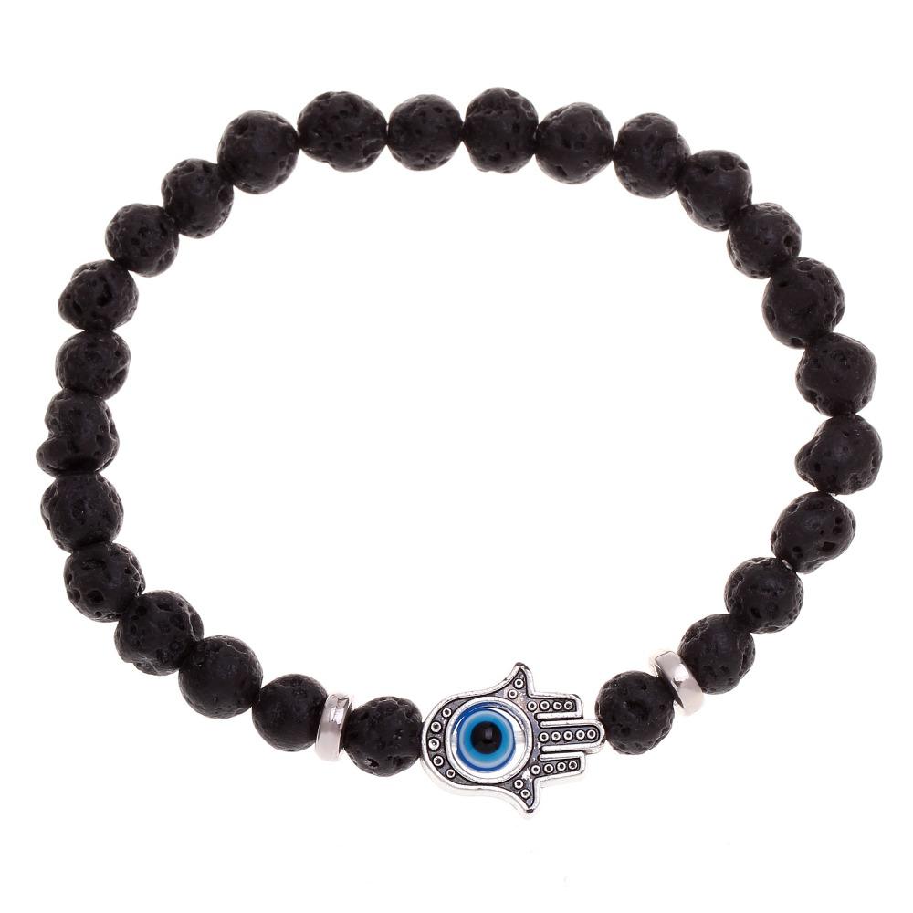 fashion elastic rope bracelets bijoux homme black lave beads bracelet men bracelet charms. Black Bedroom Furniture Sets. Home Design Ideas