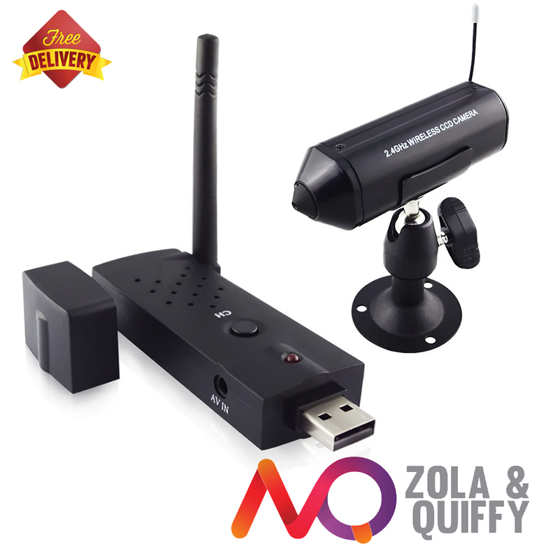 2.4G 4Ch Color Mini built in Battery Operated Wireless rechargeable Security Camera PC Based USB DVR kit(China (Mainland))