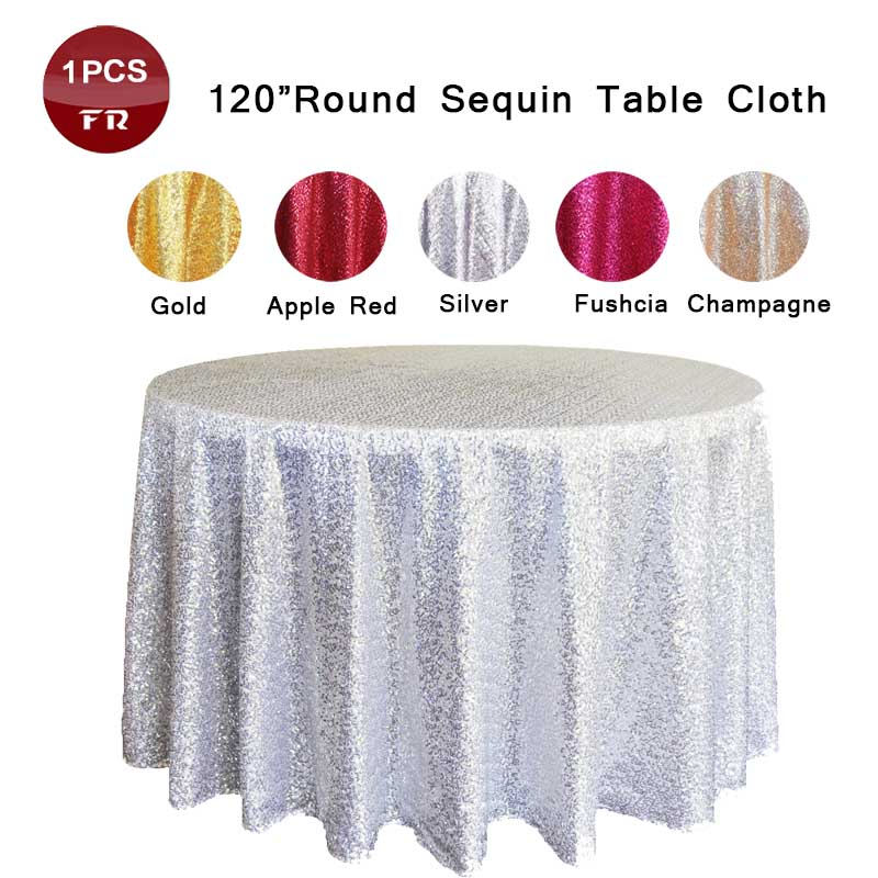 Wholesale 1 Embroidered Table Overlay Blue Sparkly Sequin Round Table Cloth for Wedding Decoration Cheap Table Linens Retail(China (Mainland))