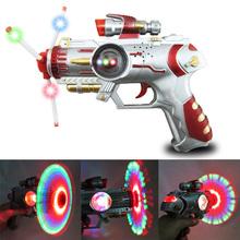 3 couleur Led musique légère de pistolet enfants clignotant son pistolet jouet enfants cadeaux(China (Mainland))