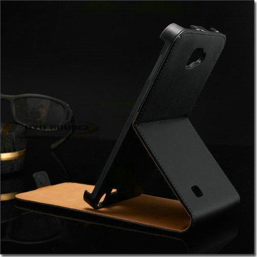 Genuine Leather Flip case for samsung galaxy note N7000 I9220 phone bag cover black luxury drop ship OYO(China (Mainland))