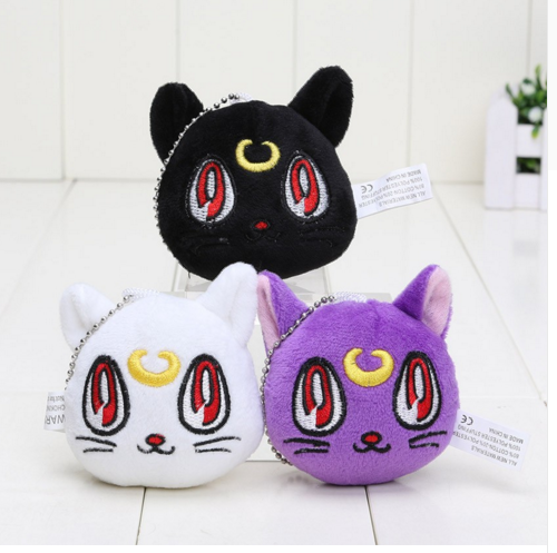 3pcs/set Cat Plush Toy Dolls Cat Keychain Pendant Cat Doll For Kids(China (Mainland))