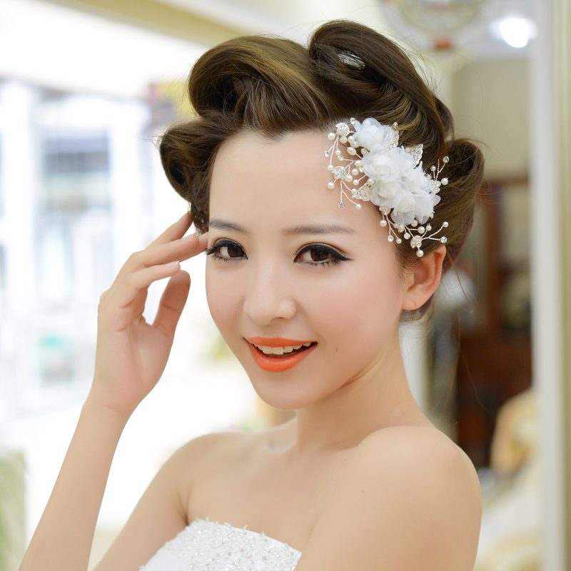 comb wedding bride flower headband bridal hair accessories wholesale