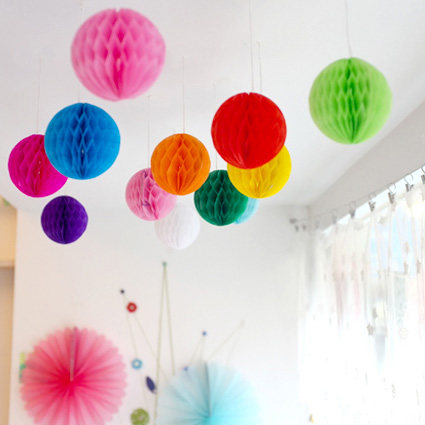 High Quality 10PCS/Lot 6''(15cm) Tissue Paper Lantern Honeycomb Ball For Home Garden Wedding & Kids Birthday Party Decorations(China (Mainland))