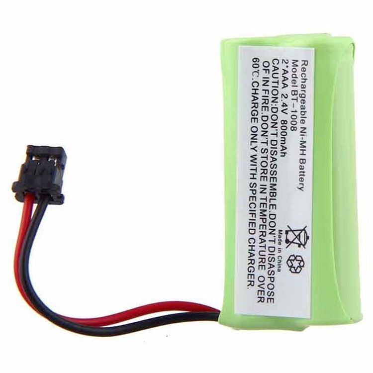 Hot Selling 5pcs/lot New BT-1008 2.4v 800mAH Ni-MH Rechargeable Battery BT-1008 BT-1016 Cordless phone batteries pack
