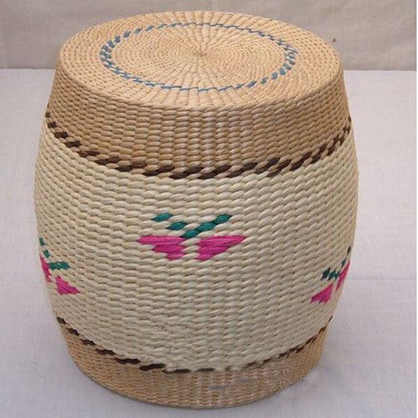 Fashion grass wicker handicrafts handmade Stools & Ottomans Free shippping(China (Mainland))