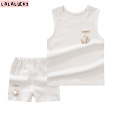 LALALUCKY ребенка устанавливает короткий жилет и брюки новорожденный одежда удобная одежда для новорожденных из двух частей короткие жилеты(China (Mainland))