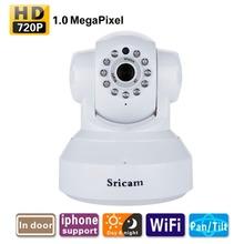 Sricam 720P Wifi 1.0 Megapixel H.264 Wireless PTZ CCTV Security IP Camera White UK Support WIFI 802.11 b/g/n