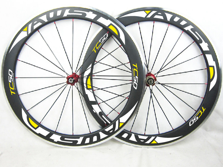 Carbon fiber 50mm Road bike white decals carbon wheels bicycle carbon wheelset with R13 R36 Al alloy brake hubs free shipping<br><br>Aliexpress