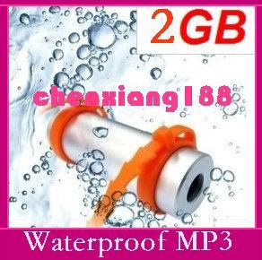 Consumer Electronics MP3 Players 2GB Sports Water Swimming Waterproof MP3 Player water resistance Cool(China (Mainland))