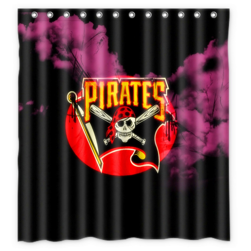Jolly roger shower curtain - Anime Shower Curtain One Piece Dragon Ball Z Bleach Fairy Tail Naruto Together Pittsburgh Pirates Shower Curtain 66x72 Inch