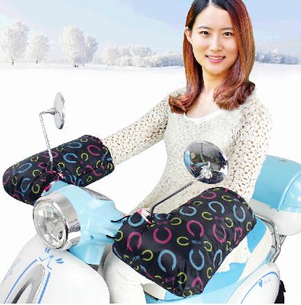 electric bicycle Motorcycles motorbike gloves winter waterproof fluff warm - Shenzhen Q Star Technology Co., Ltd. store