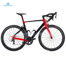 Hot Selling 22 Speed 700C Complete Carbon Road Bicycle With Red Black Painting UD Glossy Complete Carbon Road Bike(China (Mainland))