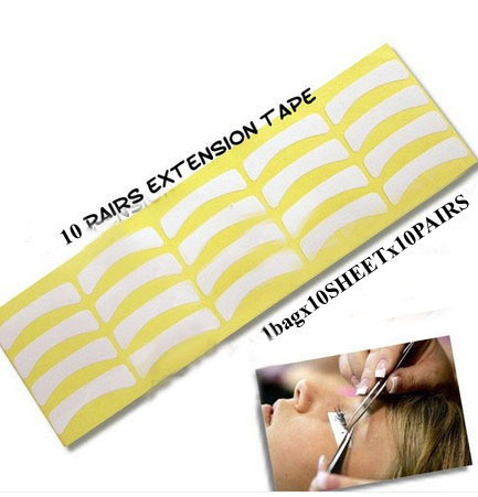 100 Pairs Individual Lash Extension Eyelash Tape Supply Medical Tool Makeup Styling Eye Pad Freeshipping - Make You Up store