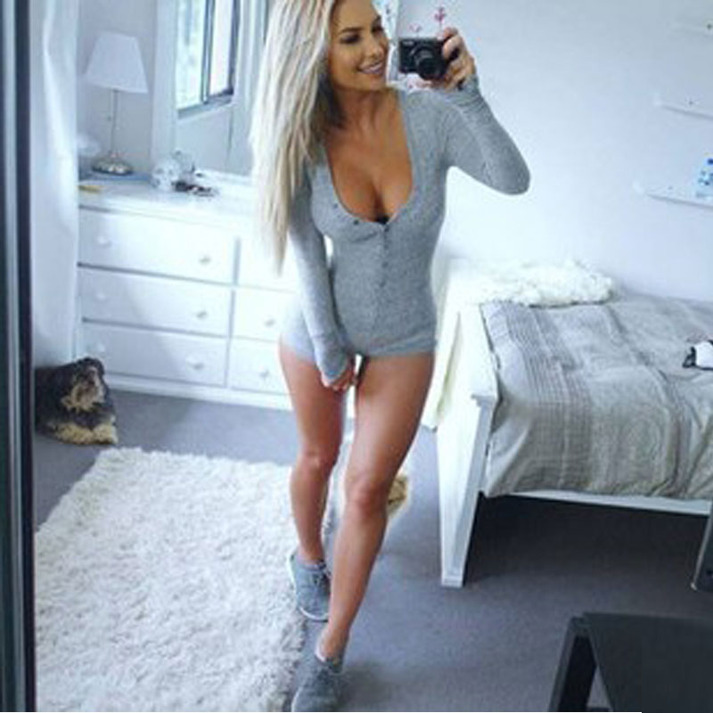 Rompers Women Jumpsuit 2016 Sexy Deep V neck Coveralls Bandage ...