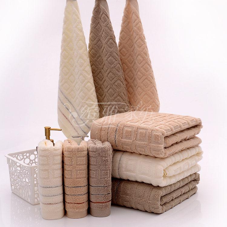 2 3pcs Elegant Cotton Terry Bath Towels Sets For Adults High Quality Bath Bathroom Towels Sets