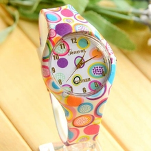 Geneva Quartz Silicone Watch Women 2016 Floral Pattern Jelly Watch Women Casual Sports Dress Watches For Ladies Wristwatches(China (Mainland))