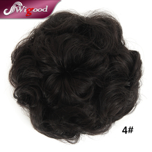 Hot Drawstring Flower Hair Chignon Donut Roller Cute Fashionable Hairpieces Synthetic Bun Hair Chignon with Clip Strap Wigood