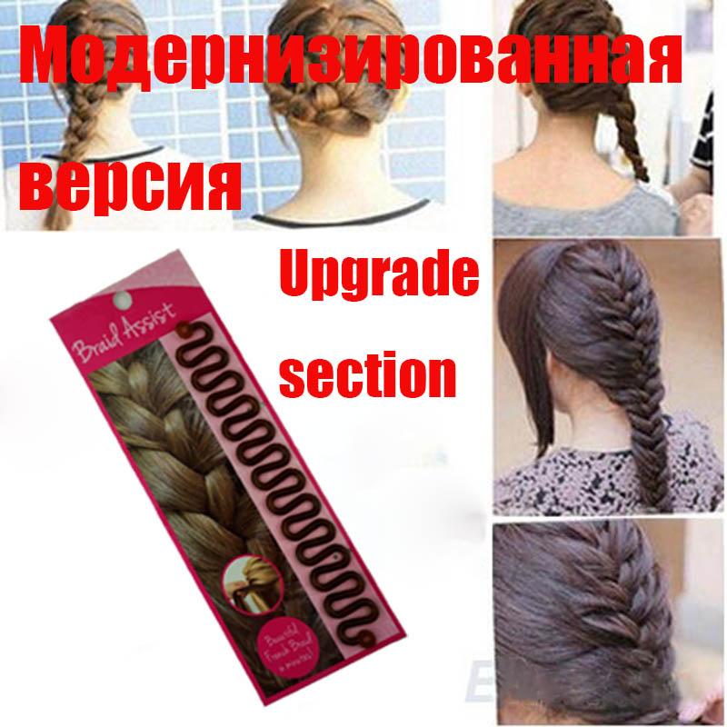 2016 Upgraded version Fashion Hair Braiding Braider Tool Roller With Magic hair Twist Styling Bun Maker Hair Disk Womens girls(China (Mainland))