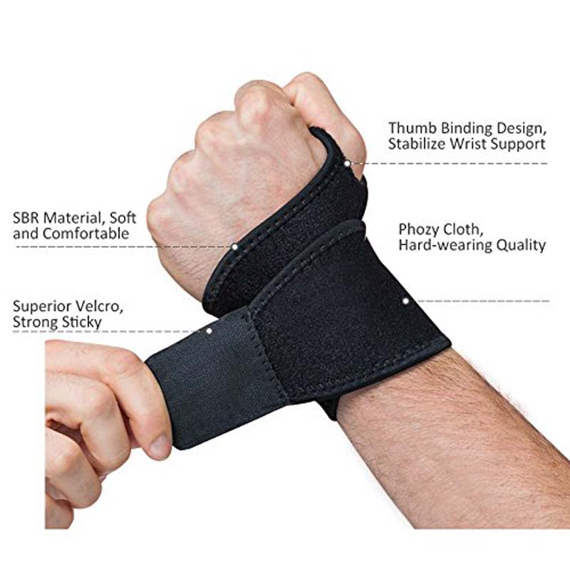 Reversible Sports Wrist Brace, Fitted Right / Left Thumb Stabilizer, Wrist Support Wrap for Badminton Tennis Weightlifting(China (Mainland))
