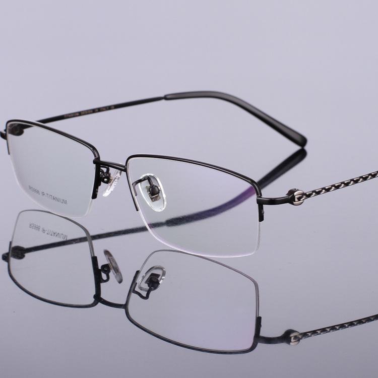 Titanium Half Rim Eyeglass Frames : 2016 New Fashion Brand Men Half Rim Glasses Titanium ...