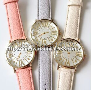 Free Shipping,Good Quality Leather Strap Color Geneva Watch for Boy and Girls 10pcs/lot <br><br>Aliexpress