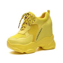 2019 Wit Trendy Schoenen Vrouwen Hoge Top Sneakers Vrouwen Platform Enkellaars Mand Femme Chaussures Femmes Hoogte Toename Schoenen(China)