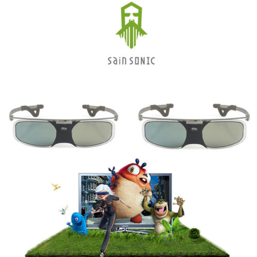2PCS SainSonic Bravia 3D Glasses Aluminum For DLP Link Projector BenQ MH680 MS504<br><br>Aliexpress