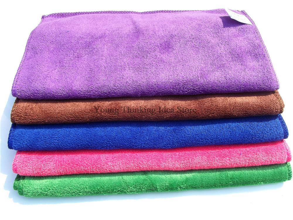 2pcs/lot 30 * 70cm Random Color only OPP bag package Quick Dry Magic face Towel Car wash Towel Clean Cham Kitchen Towels(China (Mainland))