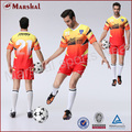 Thai quality soccer kits shirt and pant color combinations custom sublimation school uniforms