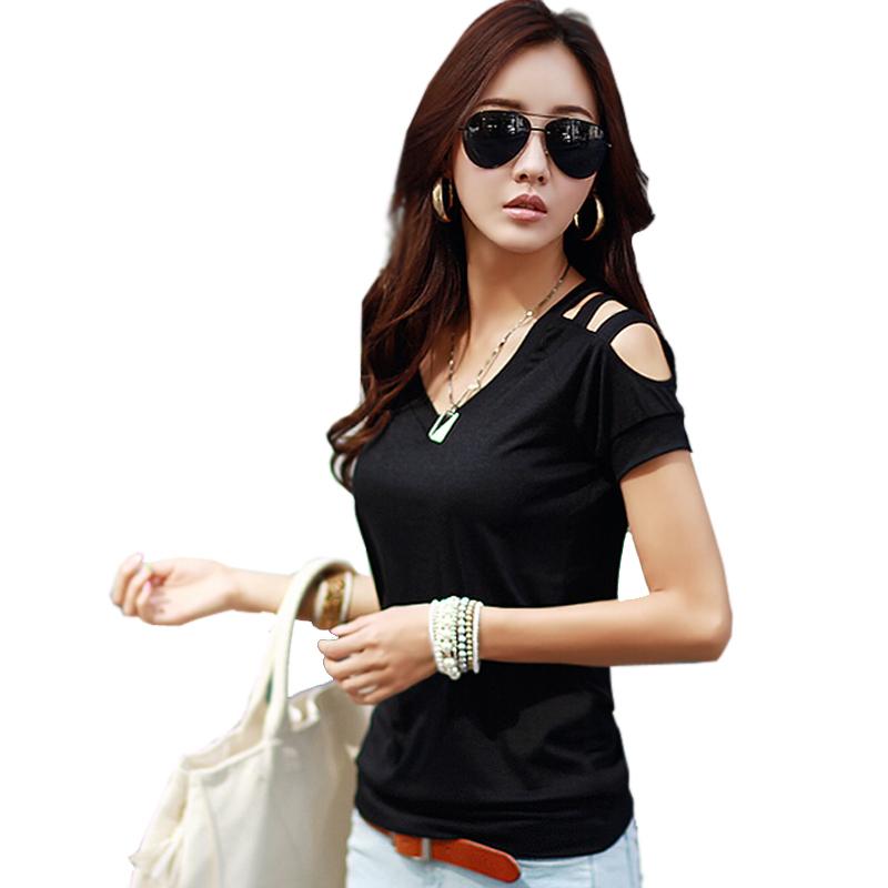 T Shirt Women 2015 Summer Style Camiseta Feminina Poleras De Mujer Tshirt T-shirt Sexy Tops Off Shoulder Plus Size Tee Femme XXL(China (Mainland))