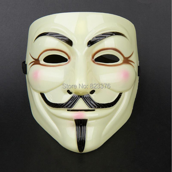 DHL Freeshipping 100pcs Hot V for Vendetta Anonymous V vendetta team guy fawkes masquerade Halloween carnival Mask(China (Mainland))