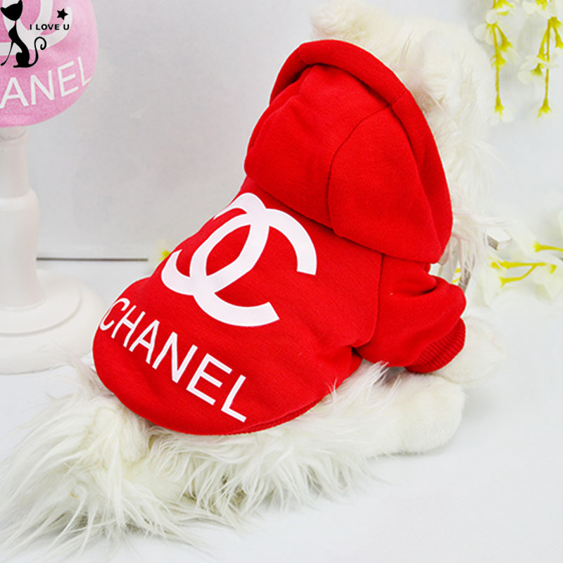 Hot Classics Pet Dog Clothes Small Dog Hoodie Coat Jacket Puppy Chihuahua Clothing Costume Apparel Balck Red Pink Size XS-XXL(China (Mainland))